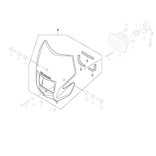 Carenagem Farol CRF 230 2015 - Original Honda Foto Manual